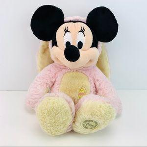 Disney Store Minnie Easter Rabbit Fleece Plush